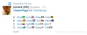 Suivez la Coupe du Monde de Football grâce à Twitter