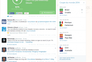 Coupe du Monde de Football sur Twitter