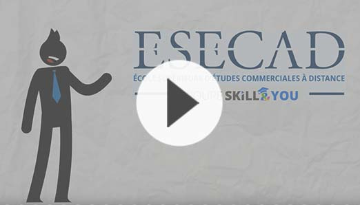 Découvrez l'ESECAD, votre école de commerce à distance, en vidéo