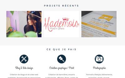 Découvrez le blog de Marie-Charlotte élève webdesigner!