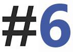 hashtag 6