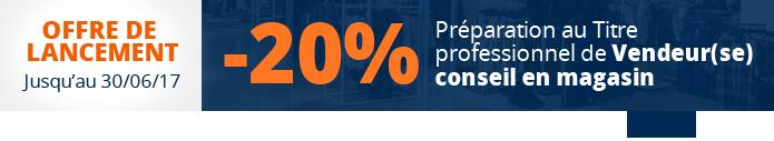 -20% sur la formation Vendeur conseil